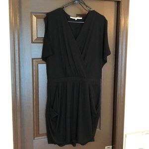 Black mini dress with pockets